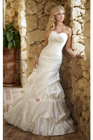 Cheap Sweetheart Empire Mermaid Wedding Gown Beautiful Wedding