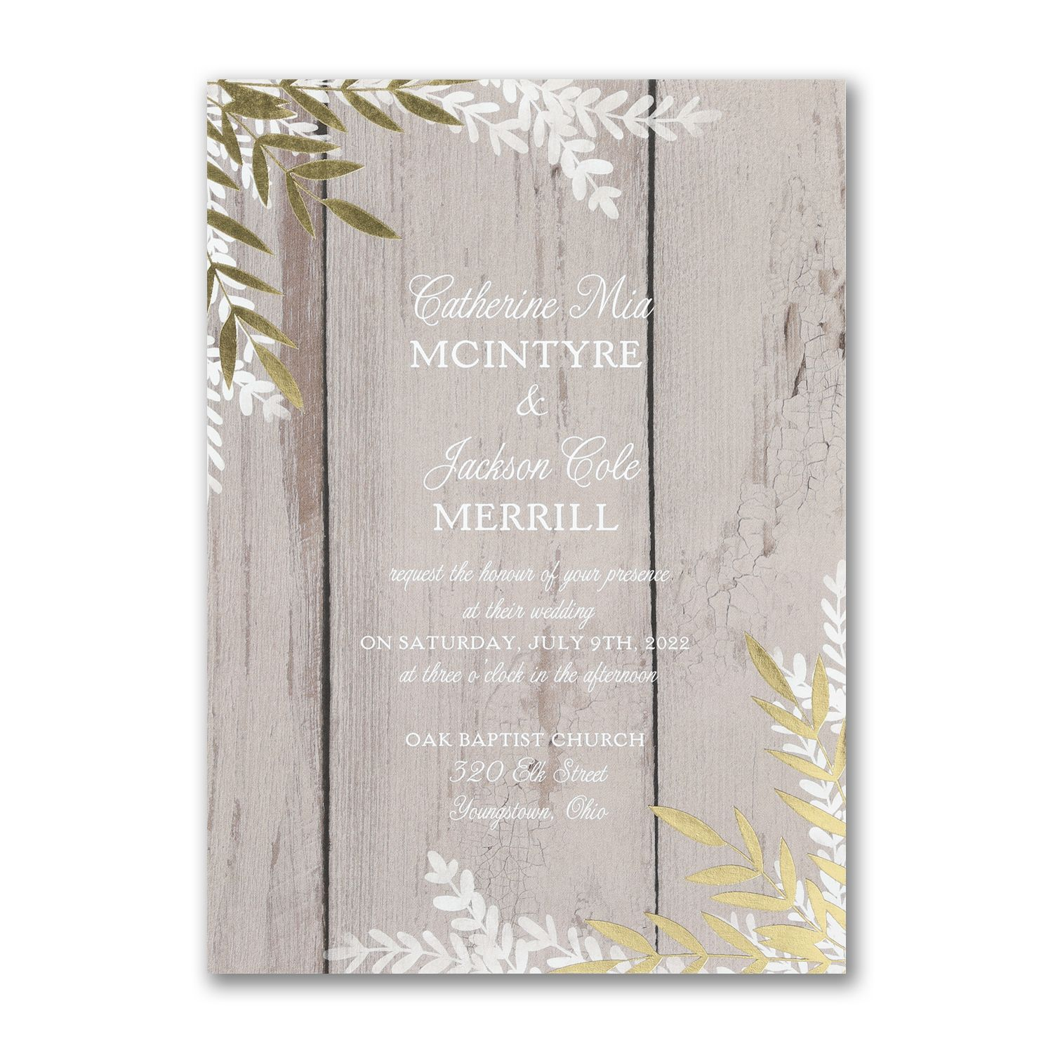 Rustic Beauty Invitation Country Wedding Invitations Wedding