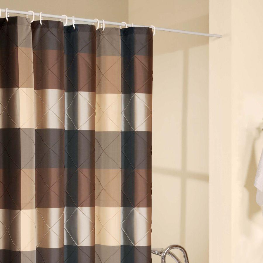 Elegant Splash Home Royal Court Brown Shower Curtain Shower Curtains