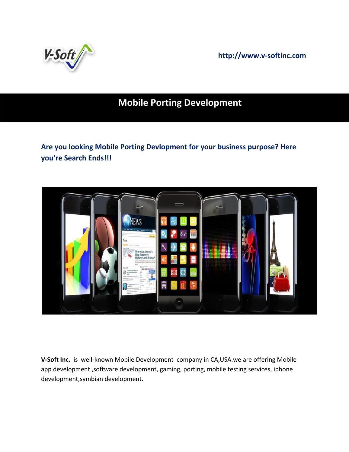 Mobile porting development Software development