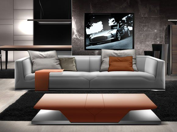 rasante m bel in einem windschnittigen design sofa von. Black Bedroom Furniture Sets. Home Design Ideas