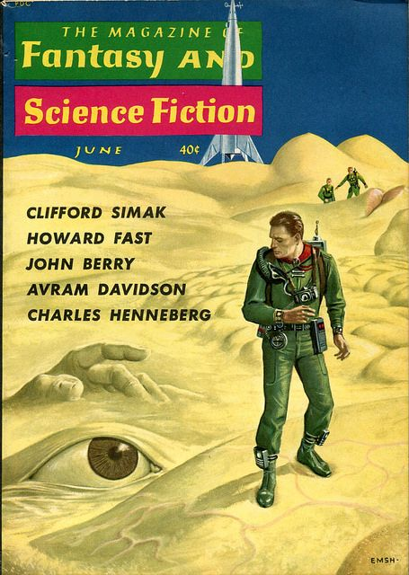 Scificovers The Magazine Of Fantasy And Science Fiction June 1960 Cover By Ed Emshwiller Science Fiction Science Fiction Design Science Fiction Magazines