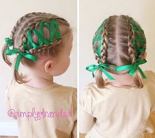20 Amazing Braided Pigtail Styles For Girls Little Girl Hairstyles Ribbon Hairstyle Hair Styles