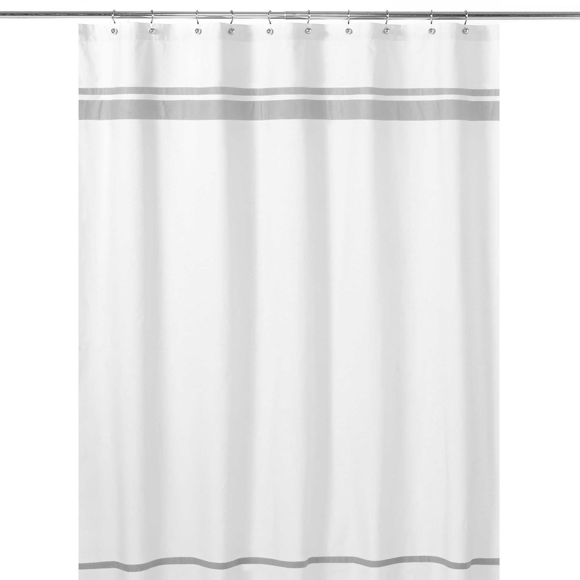 This Elegantly Designed Sweet Jojo Designs Hotel Shower Curtain Adds A Touch Of Sophistication And Luxurious