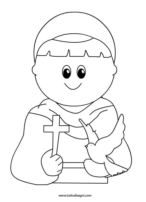 San francesco assisi2 vies et coloriages des saints - Artigianato per cristiani ...