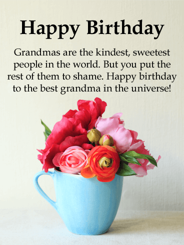 To The Best Grandma In Universe Happy Birthday Card Brighten Your