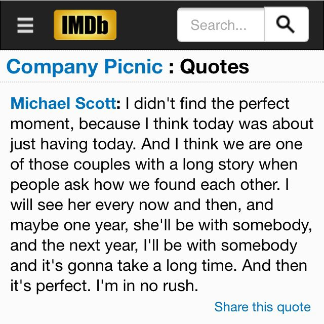 Prefect Quote From Michael Scott Michael Scott Paper Company Michael Scott Company Picnic