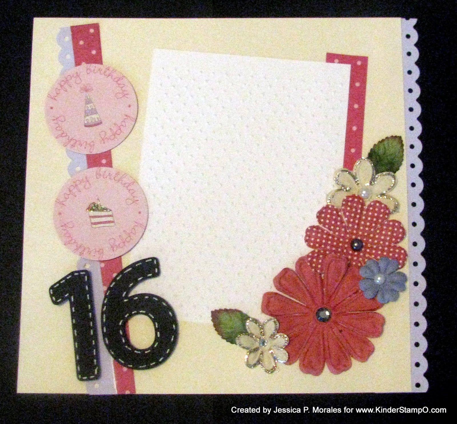 How to scrapbook 8x8 layouts - 8x8 Scrapbook Layout Ideas Memories Here Designs Happy 16th Birthday 8x8