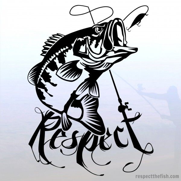 Largemouth Bass Decal Largemouth Bass Fish Design And Respect - Cool custom vinyl decals for carsfish hook die cut vinyl decal pv projects pinterest fish
