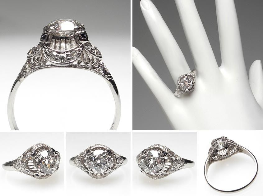 and vintage edwardian platinum horizontal rings ring style rose series engagement styles durham jewellery diamond antique