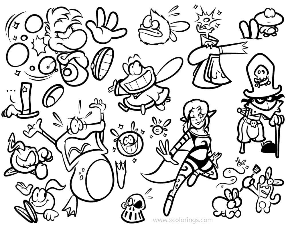Pin By Mihaela On Salvările Mele In 2021 Rayman Legends Coloring Pages Color