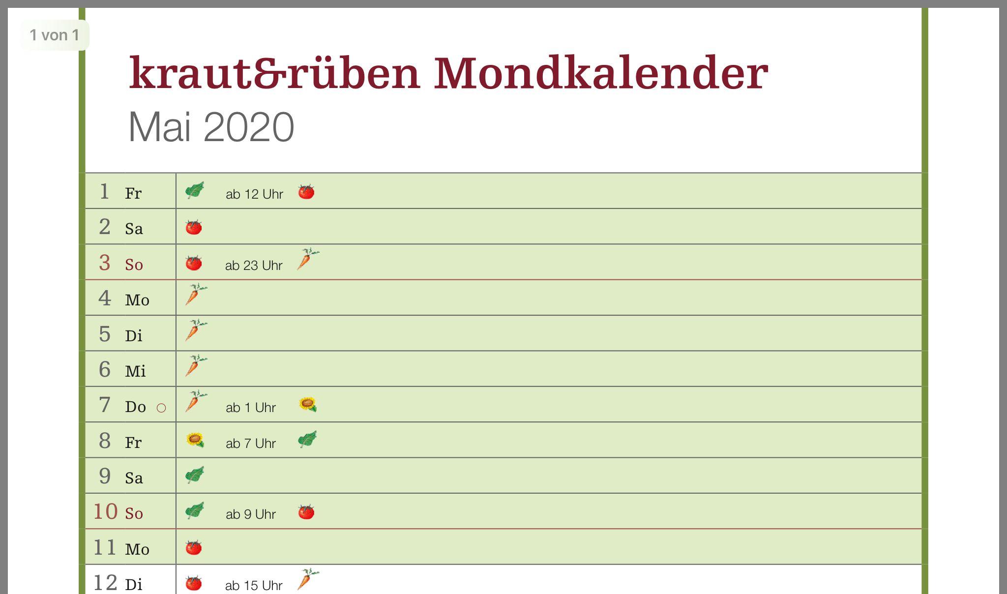 Pin Von Frieda 1974 Auf Gruner Daumen In 2020 Mondkalender Kalender 15 Uhr