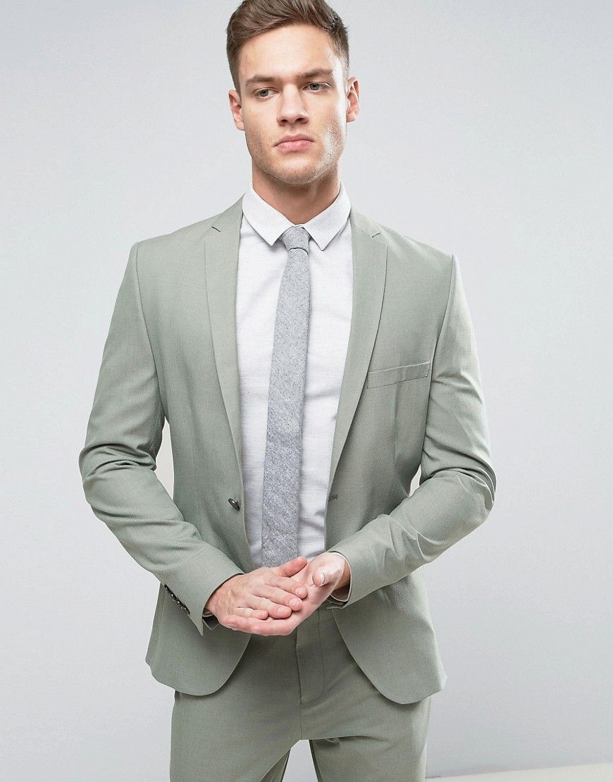 e6f7ac1136ae5e Selected Homme Super Skinny Suit Jacket in 2019 | Wedding ideas ...