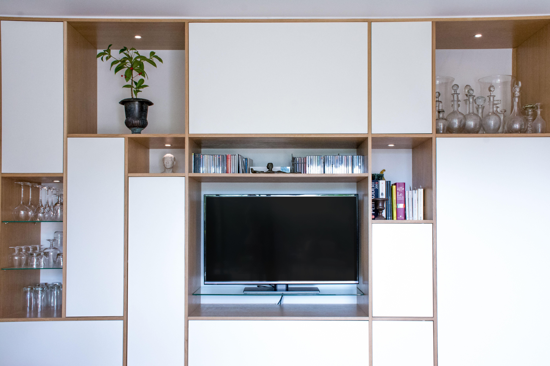 Meuble Salon Sur Mesure En 2020 Renovation Appartement Meuble Vasque Appartement