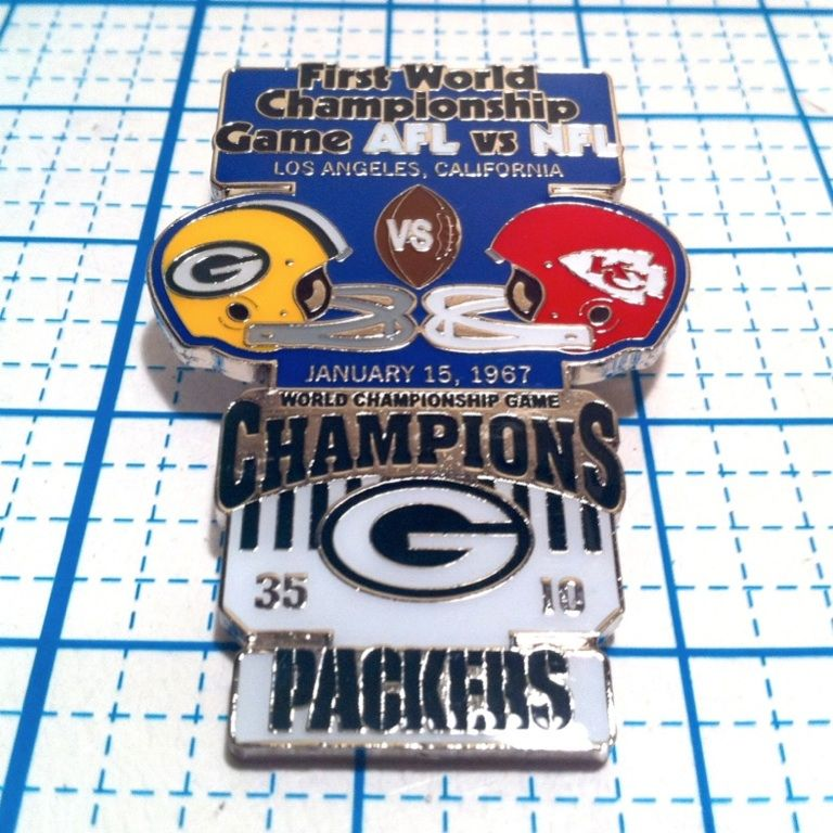 Super Bowl 1 1967 GREEN BAY PACKERS VS KC CHIEFS PIN  81f6e20226f9