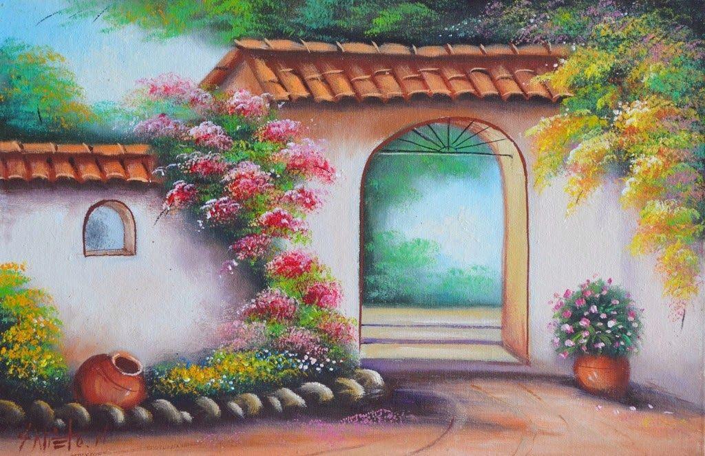 Cuadros de paisajes rusticos al oleo jpg 1024 663 paisajes para bordar pinterest - Cuadros para dormitorios rusticos ...