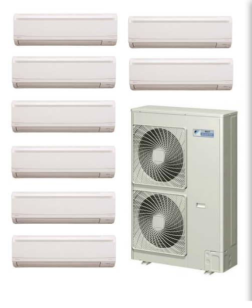 Daikin 8 Zone Ductless Mini Split Heat Pump Air Conditioner