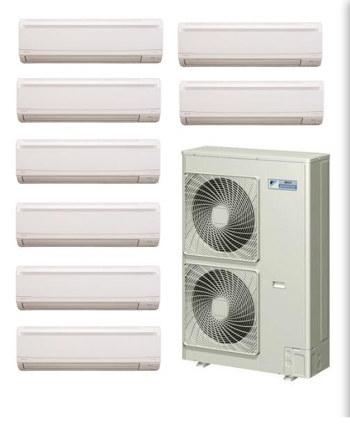 Daikin 8 Zone Ductless Mini Split Heat Pump Air Conditioner Heat Pump Air Conditioner Ductless Ductless Mini Split