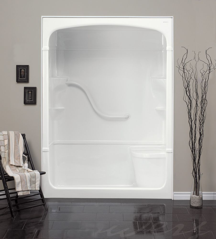 Madison 60-Inch 1-Piece Acrylic Shower Stall with Seat | Pinterest ...