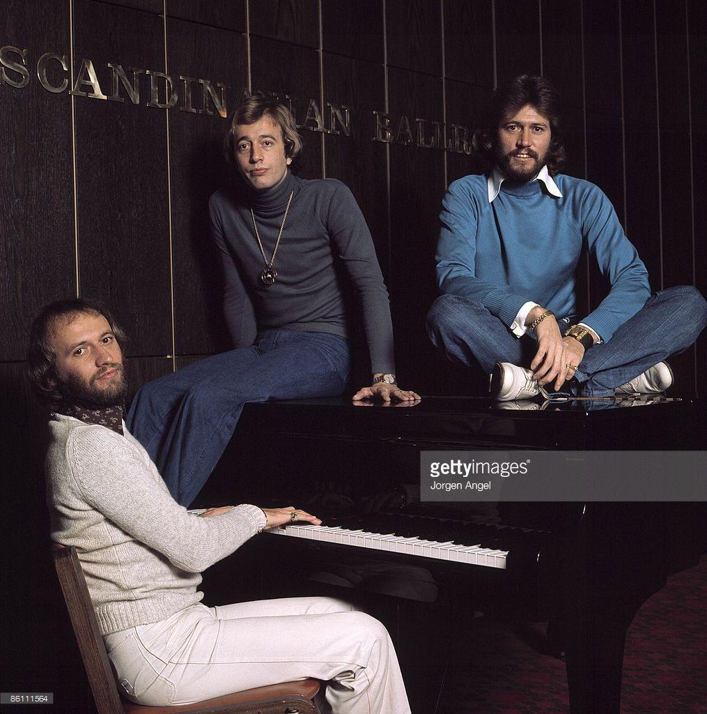 Photo of BEE GEES; Barry Gibb, Robin Gibb, Maurice Gibb