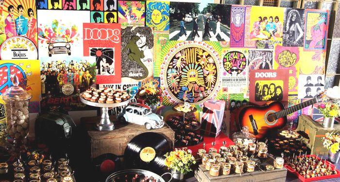 Festa De Aniversario Com Tematica De Rock Woodstock Woodstock