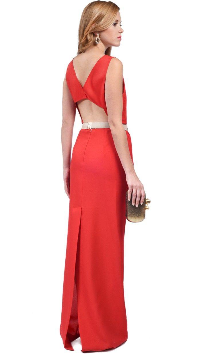 DRESSEOS - vestido largo rojo para boda - Exclusivo vestido largo en ...