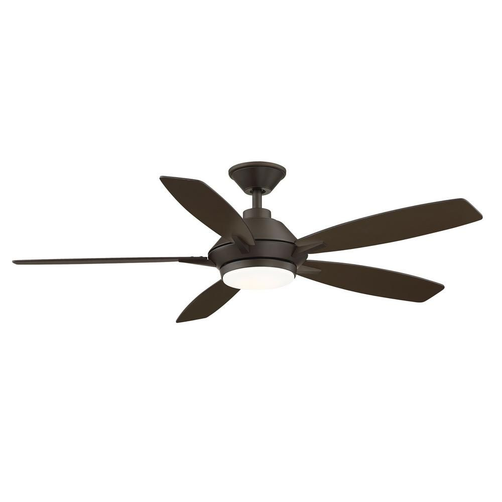 Home Decorators Collection Wilmington 52 In Led Espresso Bronze Ceiling Fan With Light And Remote Control Works With Google And Alexa In 2020 Bronze Ceiling Fan