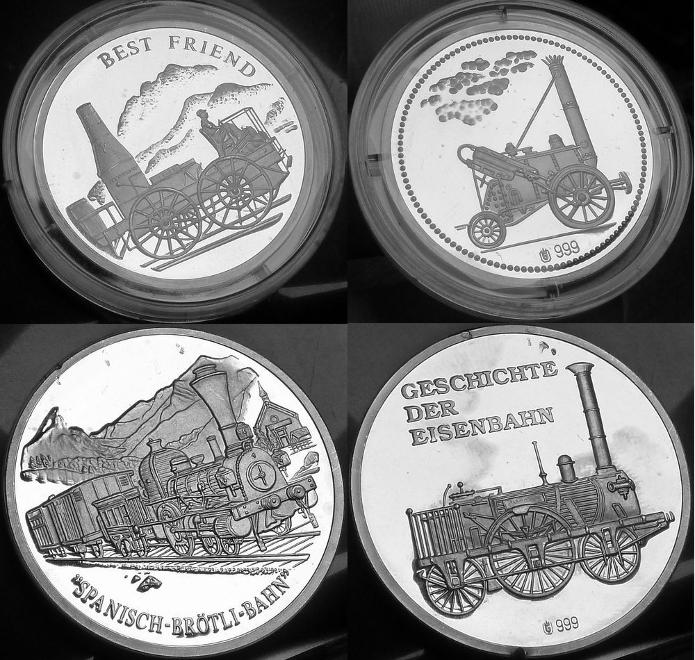 999 Fine Silver Best Friend Charleston Train Locomotive Coin Token 1 2 Oz Lot 2x Coins Silver Bullion Gold Bullion