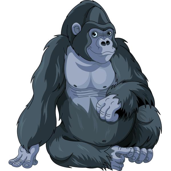 Thoughtful Gorilla Gorilla Illustration Animal Clipart Animal Icon