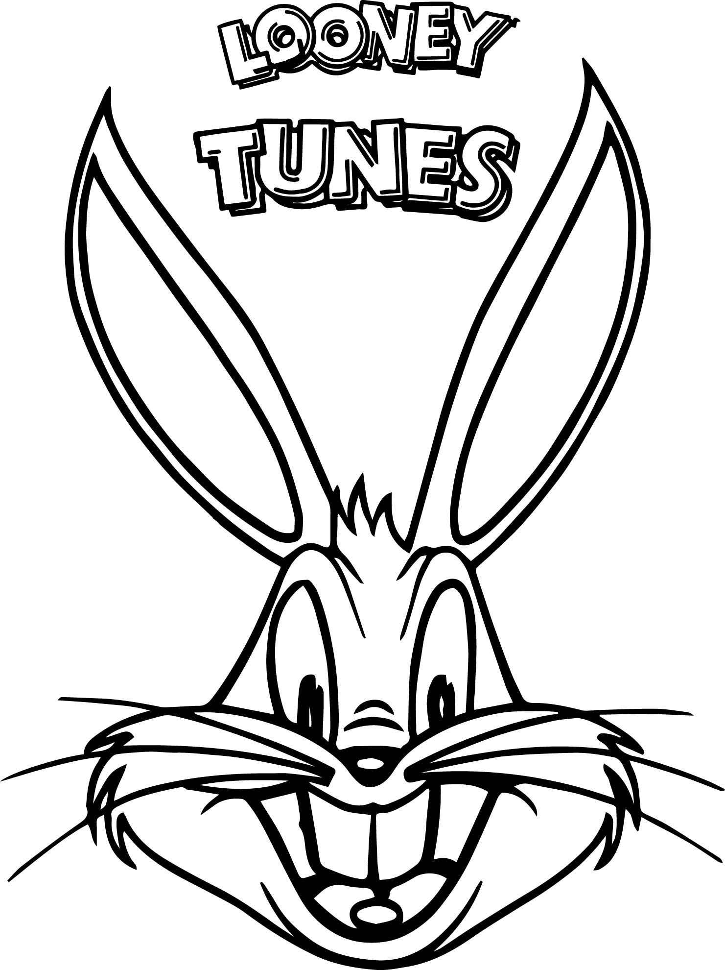 Bunny Head Coloring Pages Designs Collections