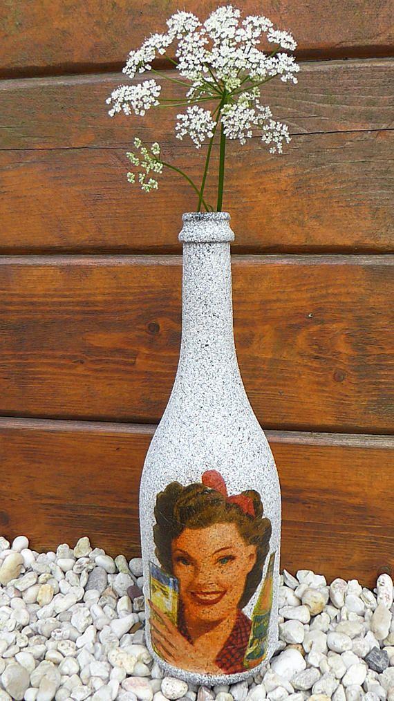 bottle in a retro style kerzen und kerzenhalter pinterest. Black Bedroom Furniture Sets. Home Design Ideas