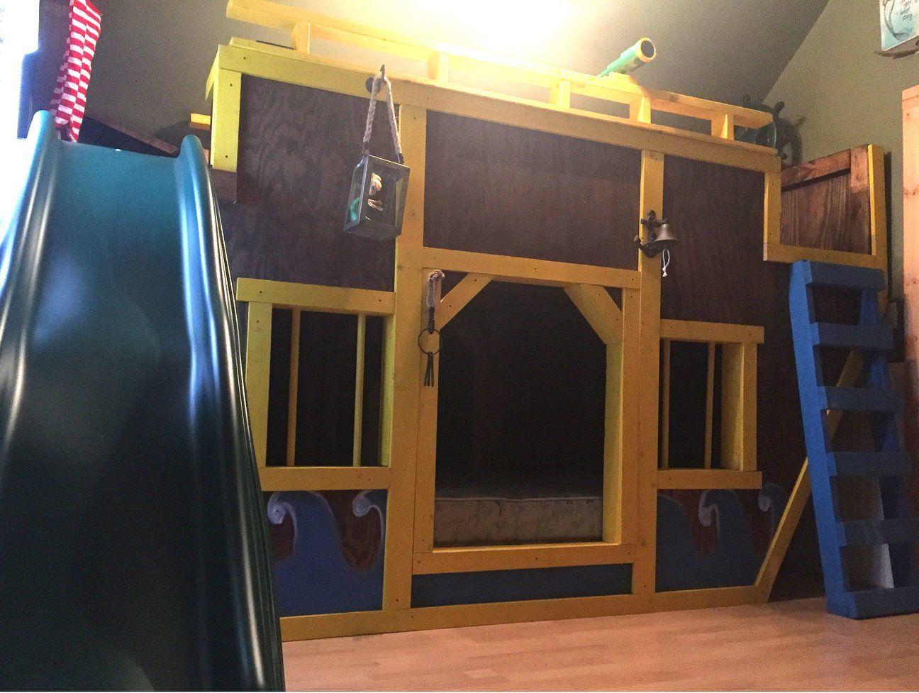 Sea King Pirateship Bunk Bed Plan Bunk beds, Bed plans