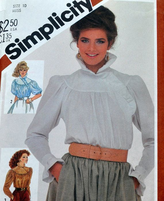 Inject some steam punk into your wardrobe with this 1980s blouse ...