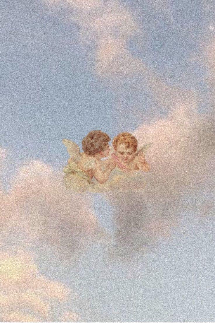 Angel Background Angel Background Angel Kisses Foundonweheartit Iphonebackground Phonebackgrou Angel Wallpaper Aesthetic Iphone Wallpaper Locked Wallpaper