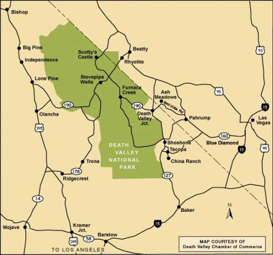 Death Valley National Park Map  Trip Nat Parks West  Pinterest