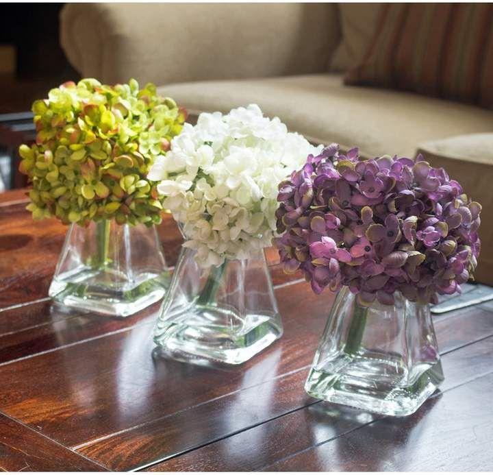 Lark Manor Hydrangae Floral Arrangement in Vase - Floral arrangements, Vases decor, Rose floral arrangements, Hydrangea centerpiece, Arrangement, Flower arrangements -