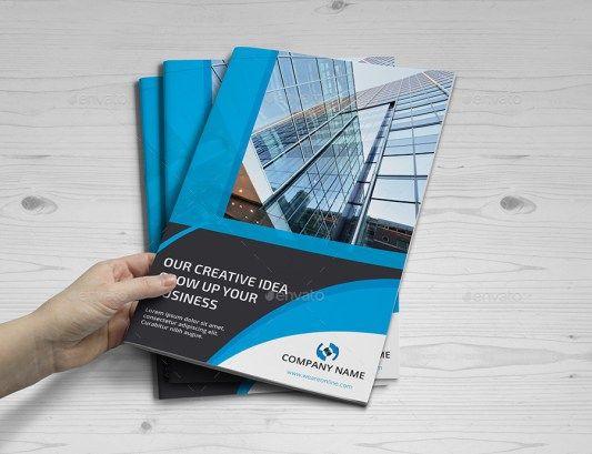 Company Profile Perusahaan Tema Biru Download Graphicriver Premium Desain Profil Perusahaan Biru Brosur