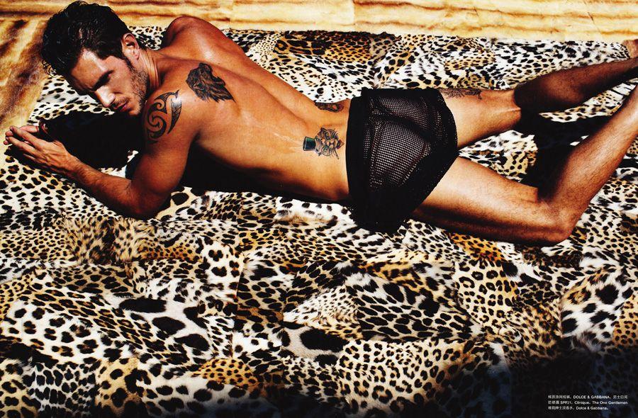 Elbio, Simone, Nicolo, Sergio, Paolo Roldan and Dolce & Gabbana for Numero Homme China