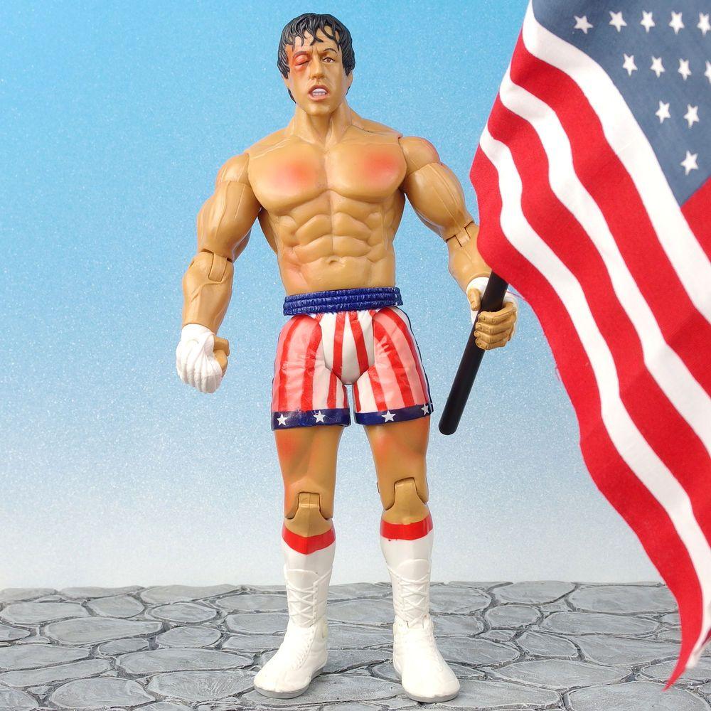 Jakks Pacific Rocky 3 III Rocky Balboa Post Fight Figure New Free Shipping