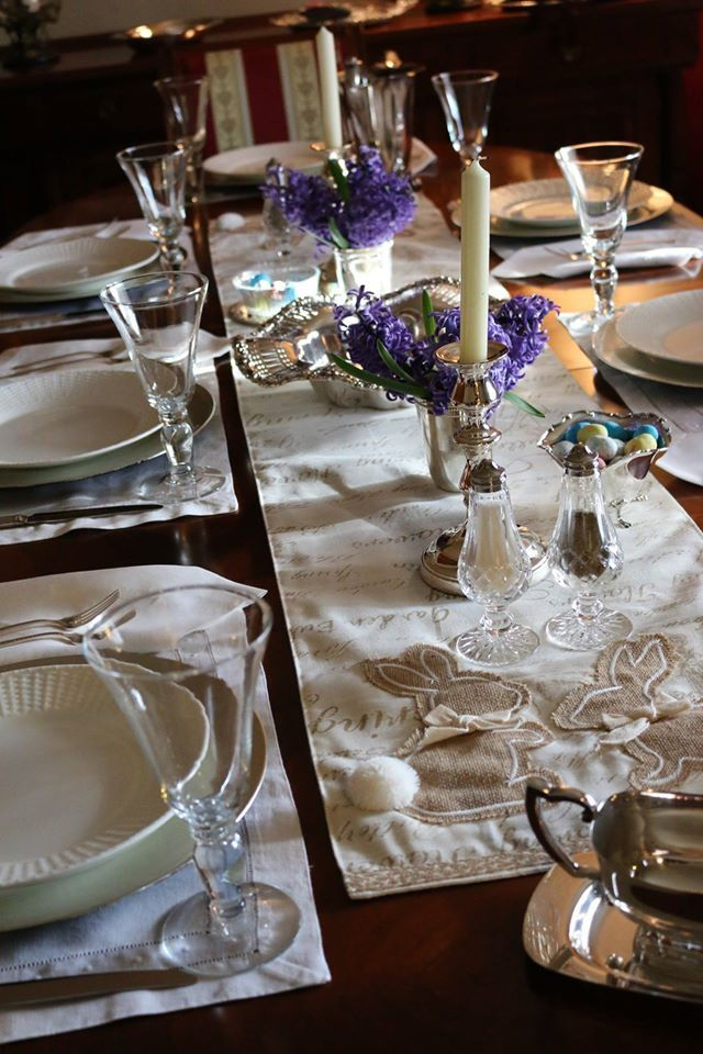 Table Setting for my Easter Table - Waterford Cystal Salt & Pepper ...