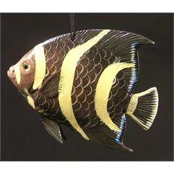 Luau Tiki Bar 3-D Hanging Tropical Fish Ocean Art Ornament