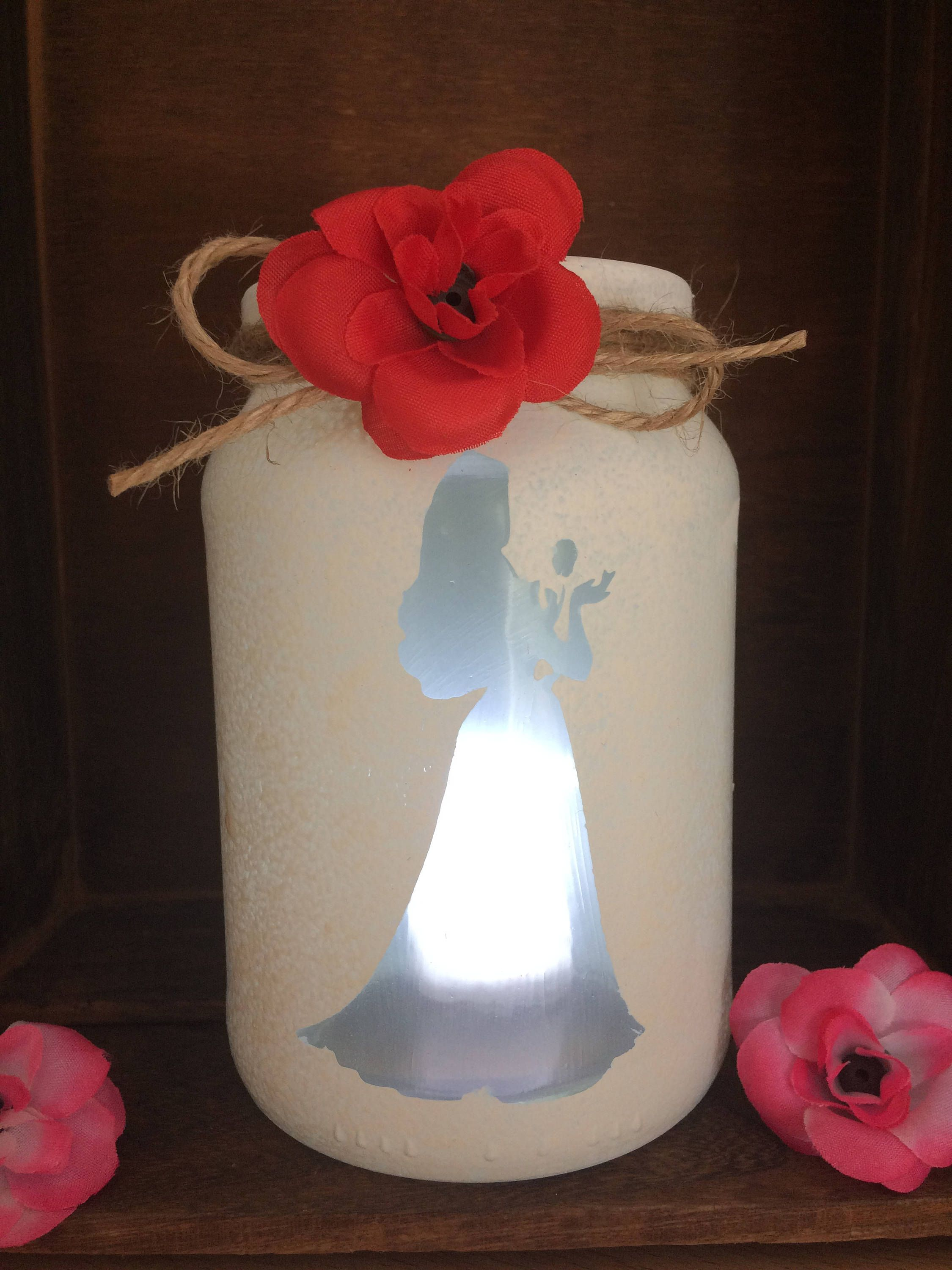Belle Beauty And The Beast Lantern Hand Painted By Loveartsgifts On