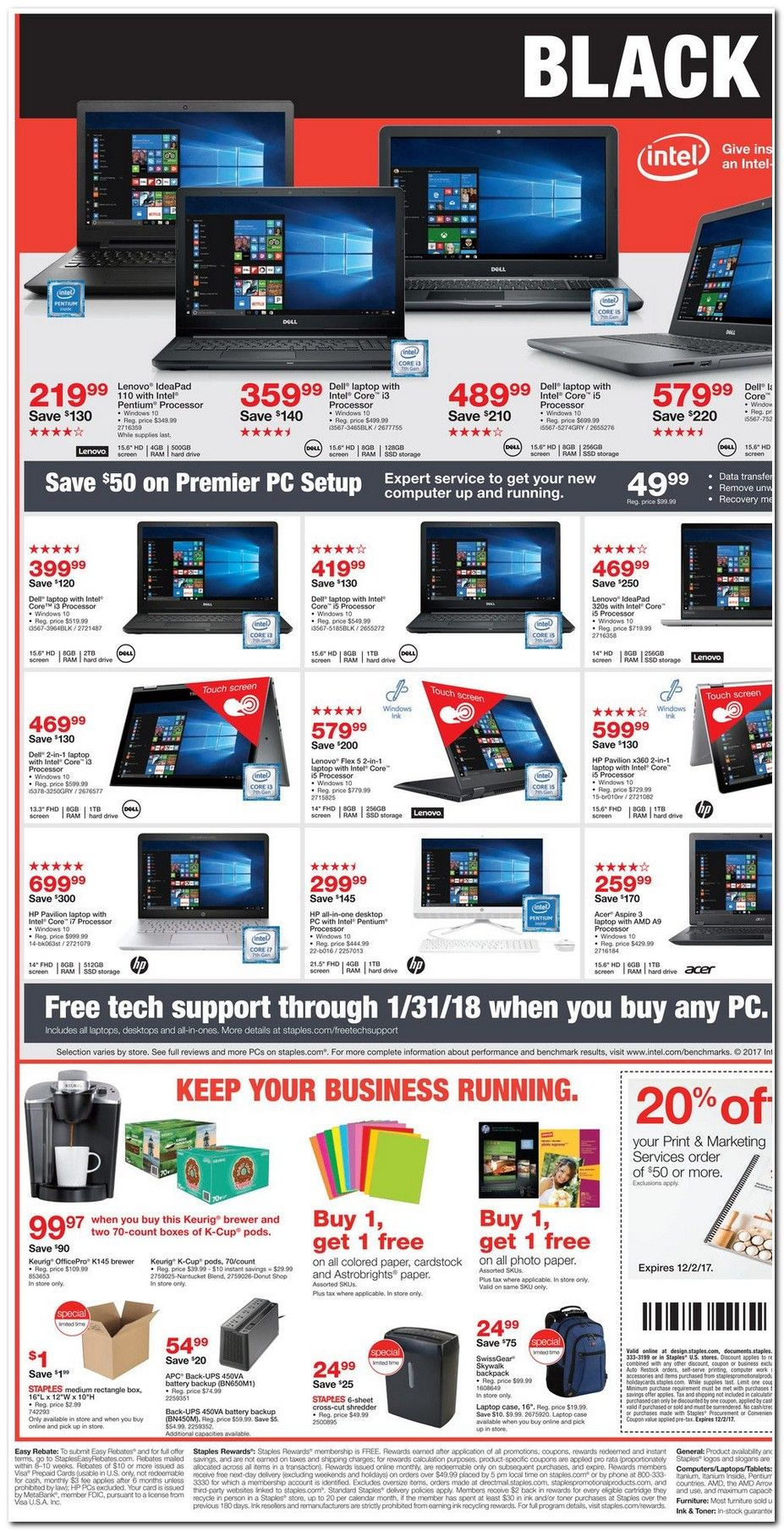 Staples Black Friday 2018 Ads And Deals Browse The Staples Black Friday 2018 Ad Scan And The Complete Product By Product Sales Listing Staples Blackfriday