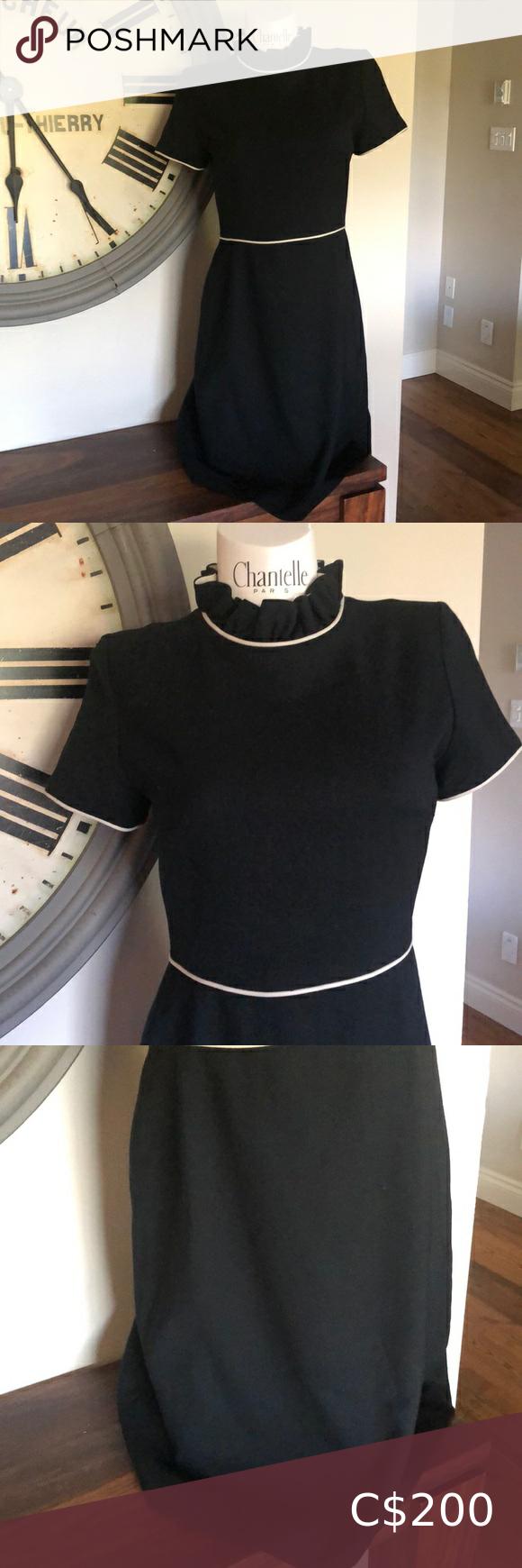 Sold Kate Spade 8 Black Dress Euc Black Dress Pink Stripe Dress Chiffon Mini Dress [ 1740 x 580 Pixel ]