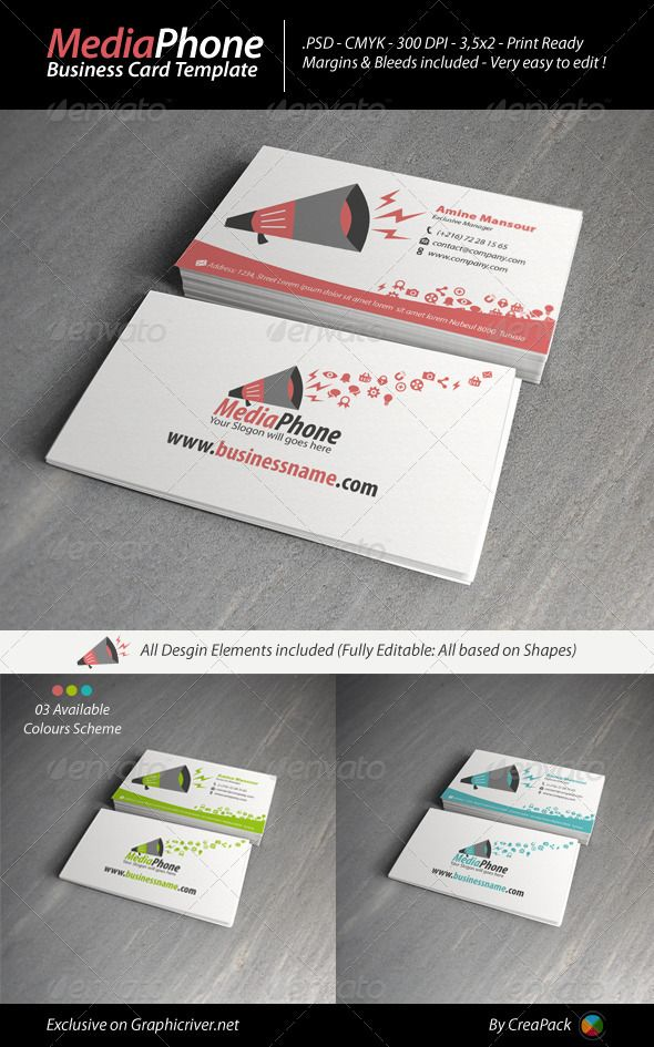 Mediaphone business card template card templates psd templates mediaphone business card template reheart Image collections