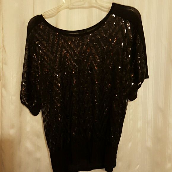 Party Shear! !!!! Black sequin shear Rue 21 Tops