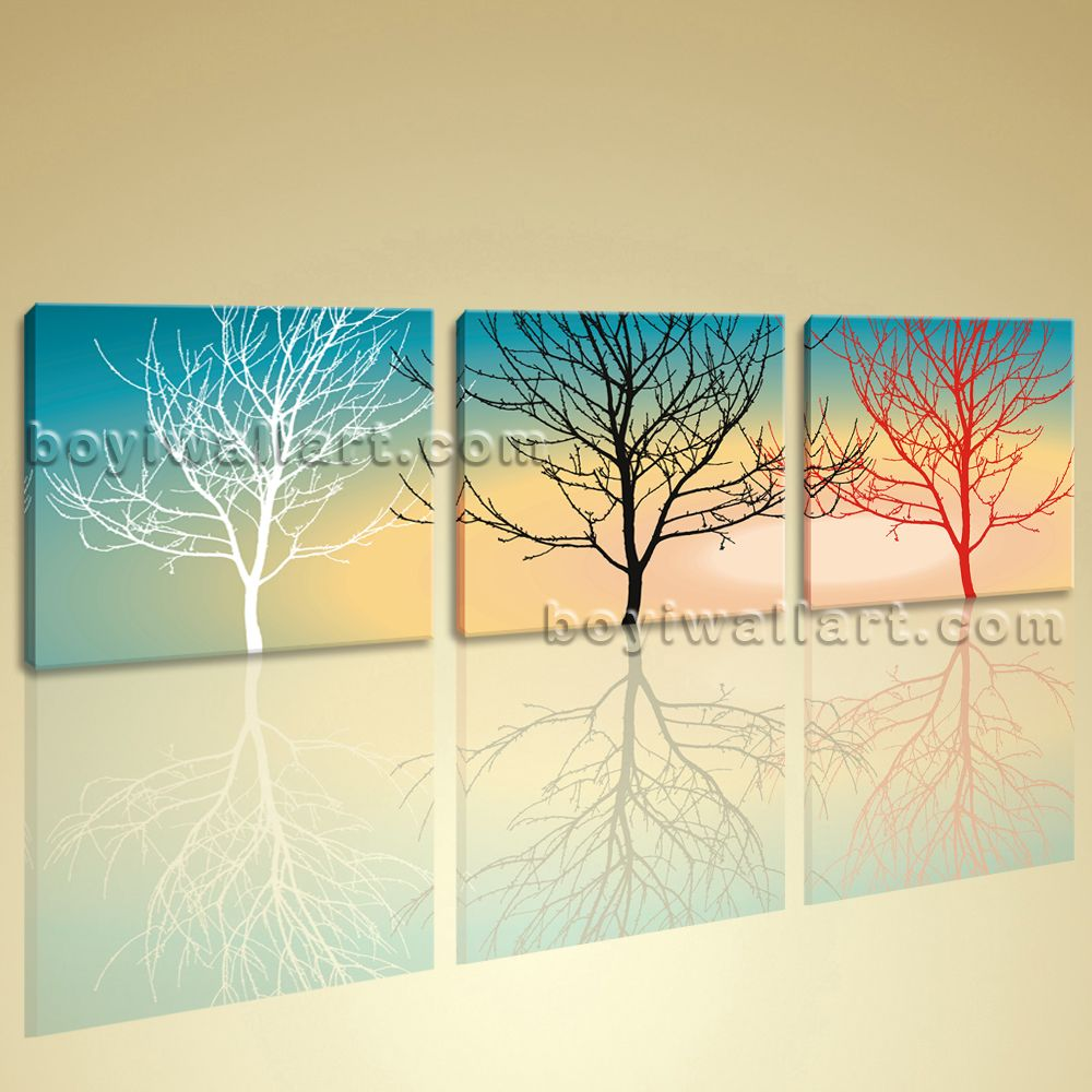 Beautiful Large Canvas Wall Art Giclee Print Abstract Floral Tree ...