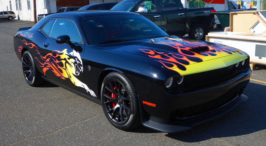 dodge hellcat one of the kind tribal flames in 2020 dodge challenger dodge challenger hellcat dodge dodge hellcat one of the kind tribal