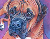 """12"""" x 12"""" Custom Pet Portrait Painting in Acrylics on Ready to Hang Canvas of One Dog, Cat, Other Animal Pet Lover Birthday Present Idea"""
