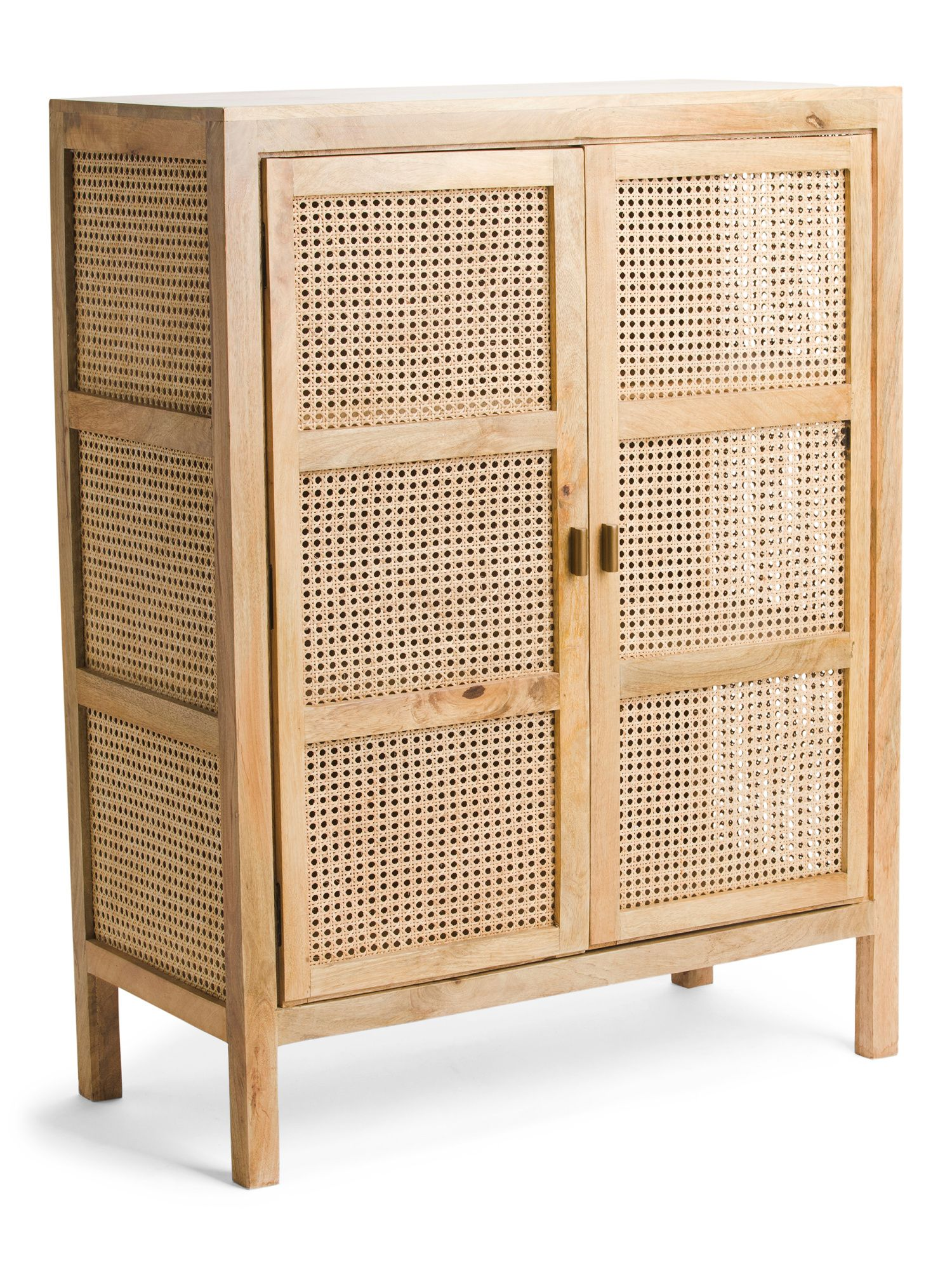 Mango Wood Cane 2 Door Cabinet House Styles Furniture Home